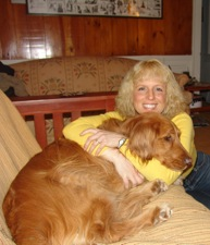 Jayne Kelly with Zippy